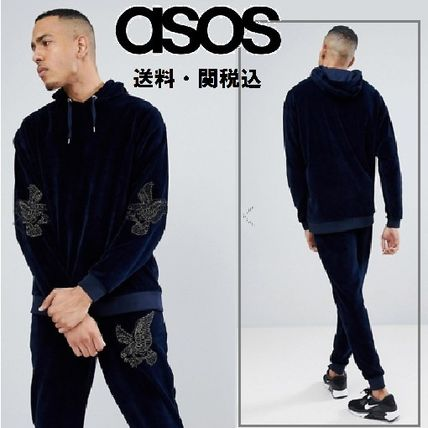 ASOS TALL ベロアトラックスーツWith Eagle Embroidery