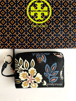 即発 TORY BURCH★KERRINGTON ZIP COIN CASE キーリング付き