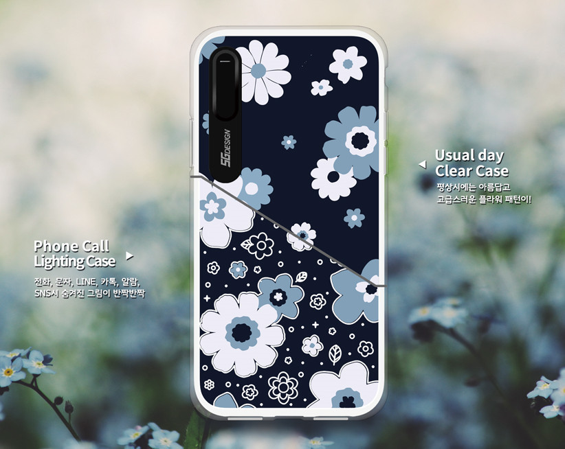 ☆SG design☆ iPHONE X FLOWER Light Up Case 4タイプ