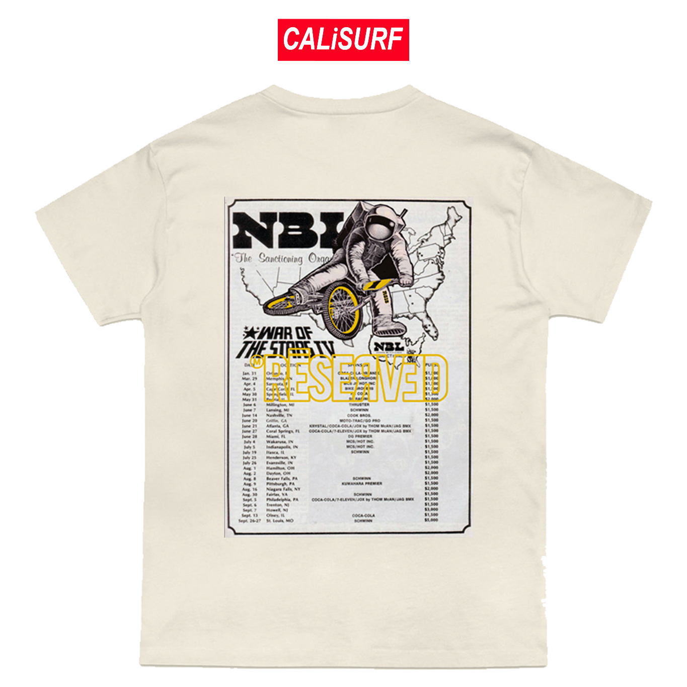 RESERVED(リザーブド)★Dixieland Tee | Natural | S-XXLサイズ
