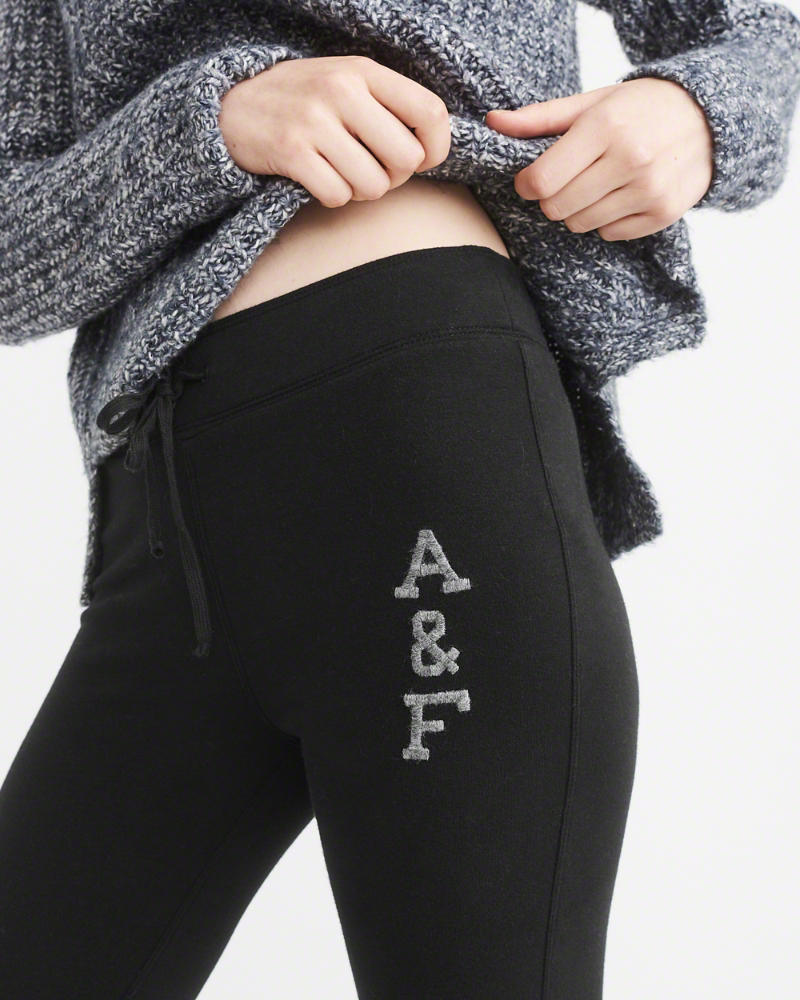 Abercrombie & Fitch Logo Fleece Leggings