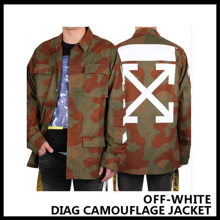 【Off-White】DIAG CAMOUFLAGE JACKET OMEA007F175640289901