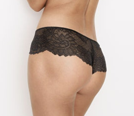 Dream Angels Demi Bra / Chantilly Lace Hipster Thong Panty
