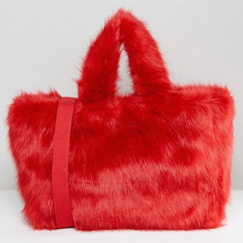 国内発送 ASOS/Monki Teddy Bear Fur Bag