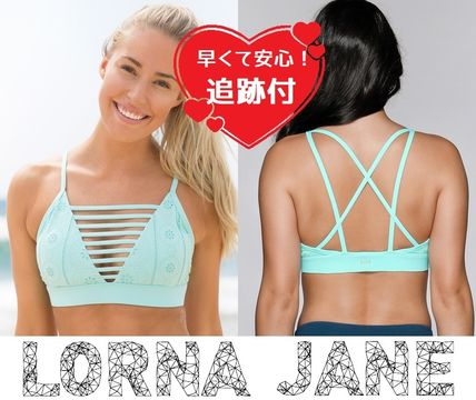 Lorna Jane フィットネストップス ★追跡有【Lorna Jane】Broderie Sports Bra★