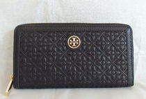 【1-2日到着】Tory Burch●Bryant zip continental●ブラック