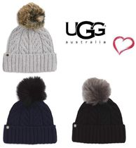 Sale!! UGG Australia ☆ Cable Knit Cuff Hat with  Pom