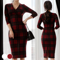 ☆17resort GUCCI Embroidered wool tartan gown