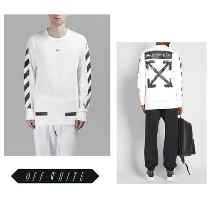 関税負担//Off-White★17AW DIAG BRUSHED TEE 長袖Tシャツ NEW