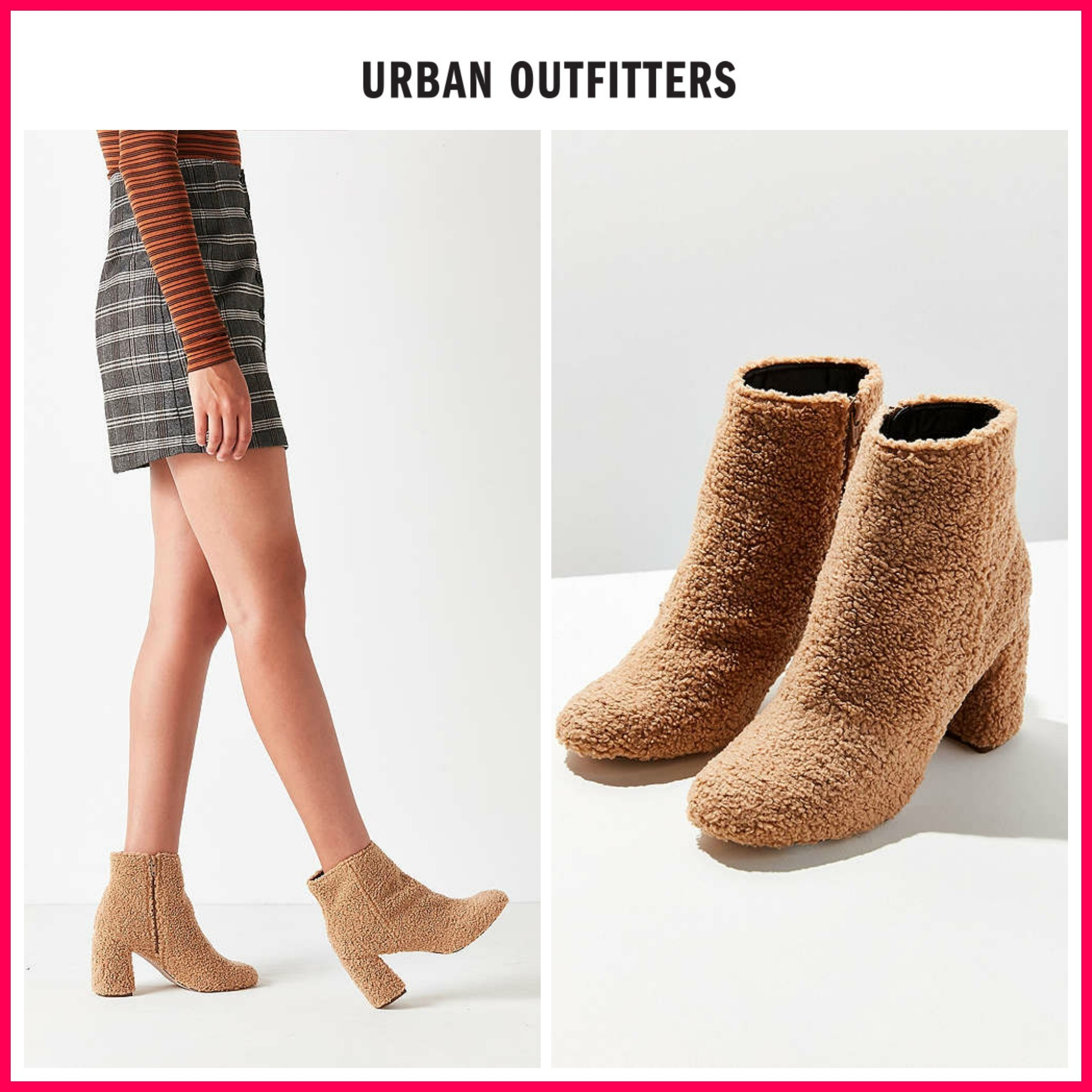 日本未入荷☆新作17AW☆UO☆Timber Faux Sherpa Ankle Boot