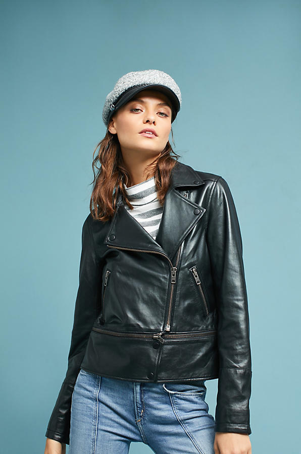 18SS☆最安値*関送込【Anthro】Convertible Leather Moto Jacket
