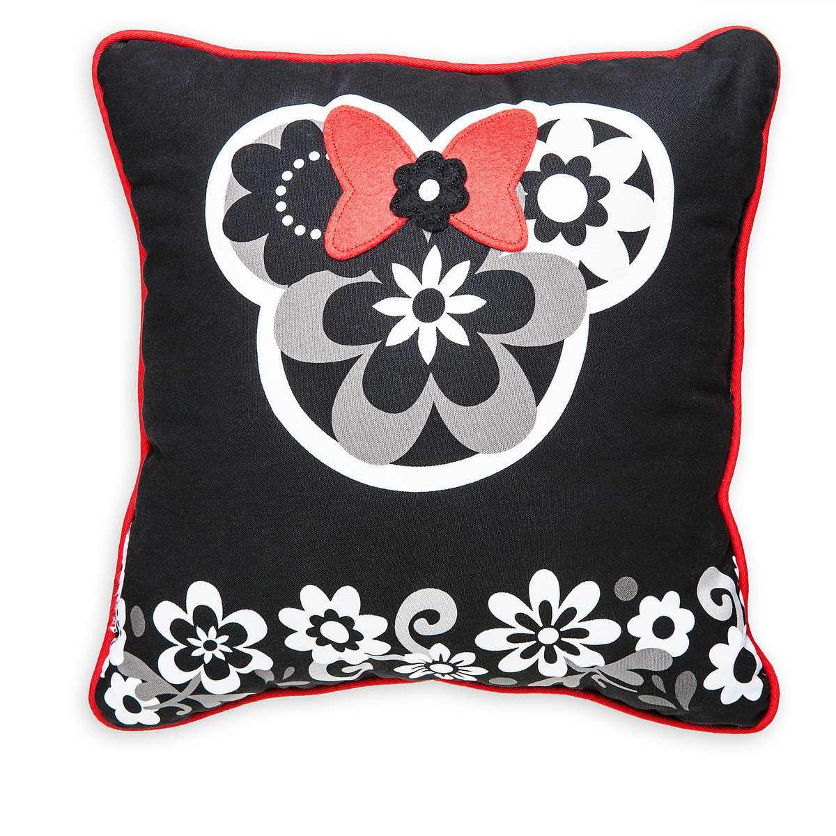 Minnie Mouse Floral Pillow