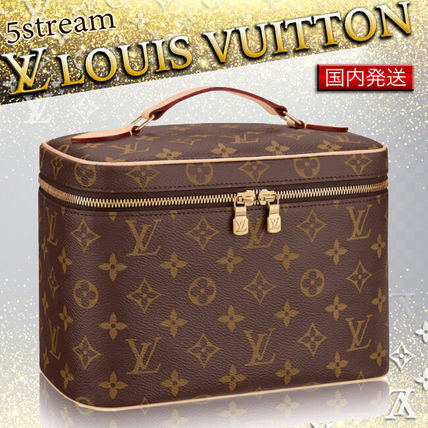 Louis Vuitton メイクポーチ 国内発送 2017AW LouisVuitton ニース BB 化粧ケース モノグラム