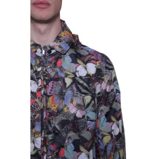 【VALENTINO】CAMUBUTTERFLY PRINT K-WAY IN TECHNICAL FABRIC