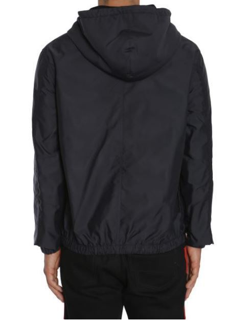 【GIVENCHY】WINDBREAKER WOMAN RED PATCH IN TECHNICAL FABRIC