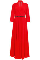 CHRISTIAN DIOR Long Silk Crepe Dress
