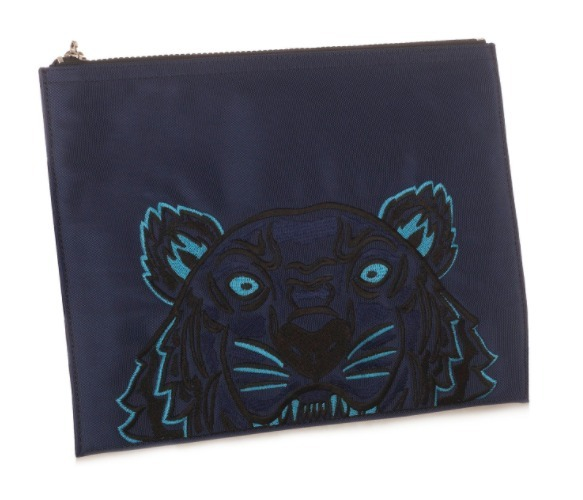 【KENZO(ケンゾー)】Tiger Pouch Blue