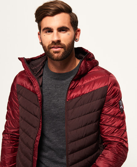 送料無料-Superdry-Colour Block Down Jacket -日本未入荷