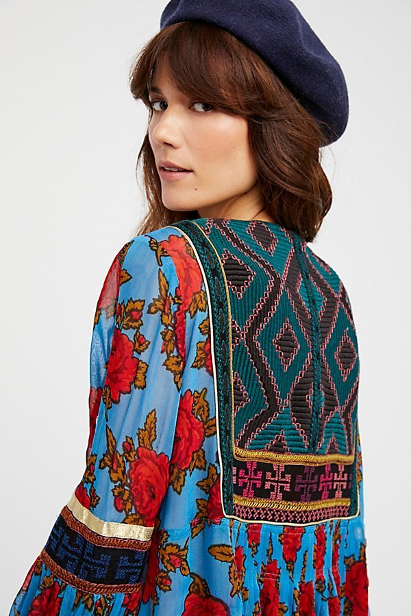 【 Free People 】Bold Blooms Embroidered Dressブルームドレス