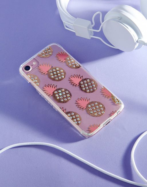 送料込 Skinnydip Pineapple Jewel iPhone 6/6S/7/8 Case ケース