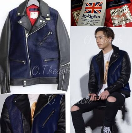 buyma 青山限定 comme des garcons lewis leathers ライダース 三代目