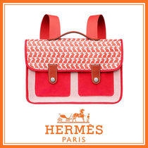 HERMES 国内発送 Animaux Pixel 綿 リュック バックパック 2色