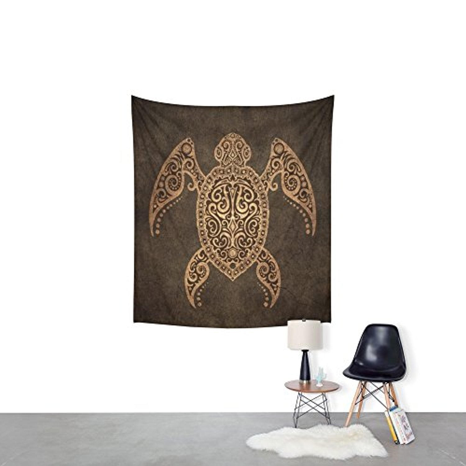 Society6 Intricate Vintage And Cracked Sea Turtle Wall