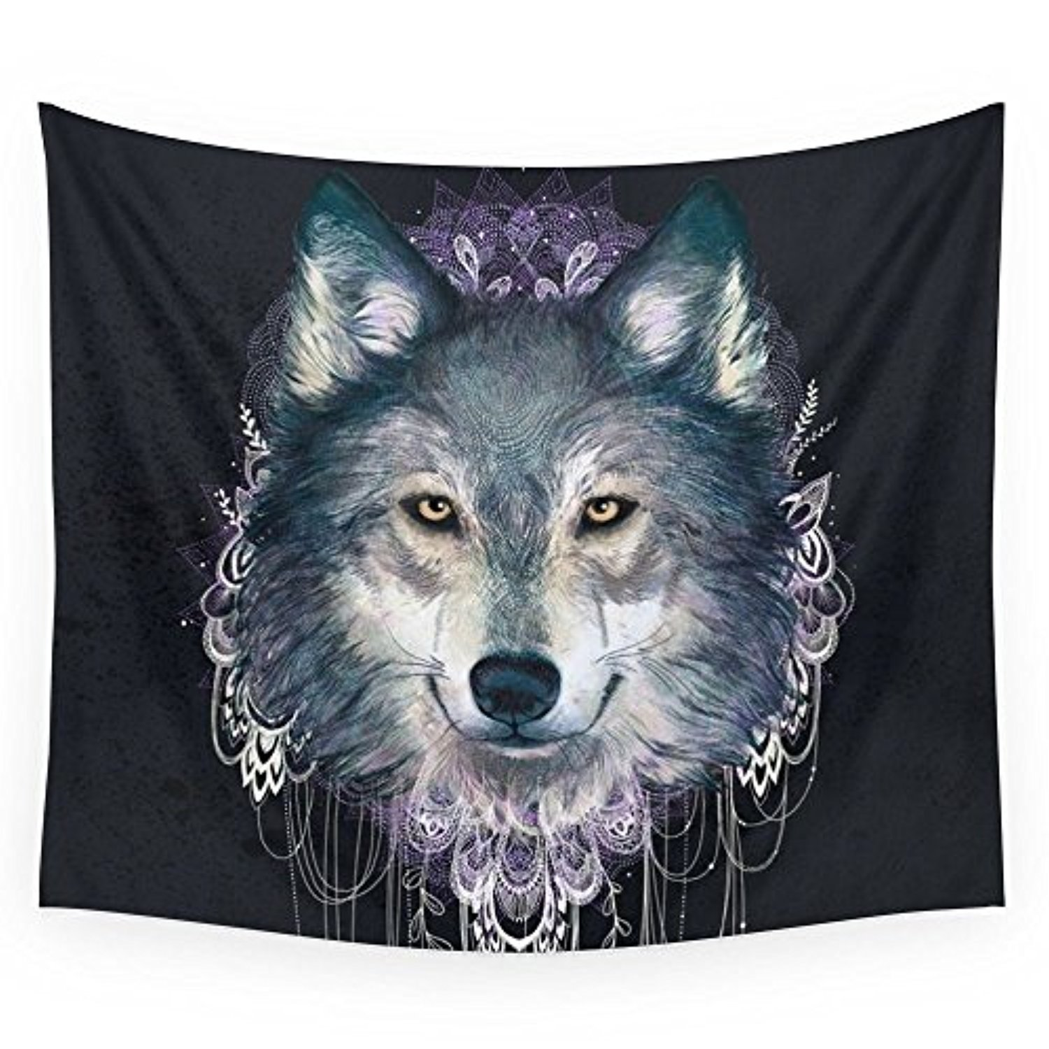 """Society6 Wolf Wall Tapestry Small: 51"""" x 60"""""""