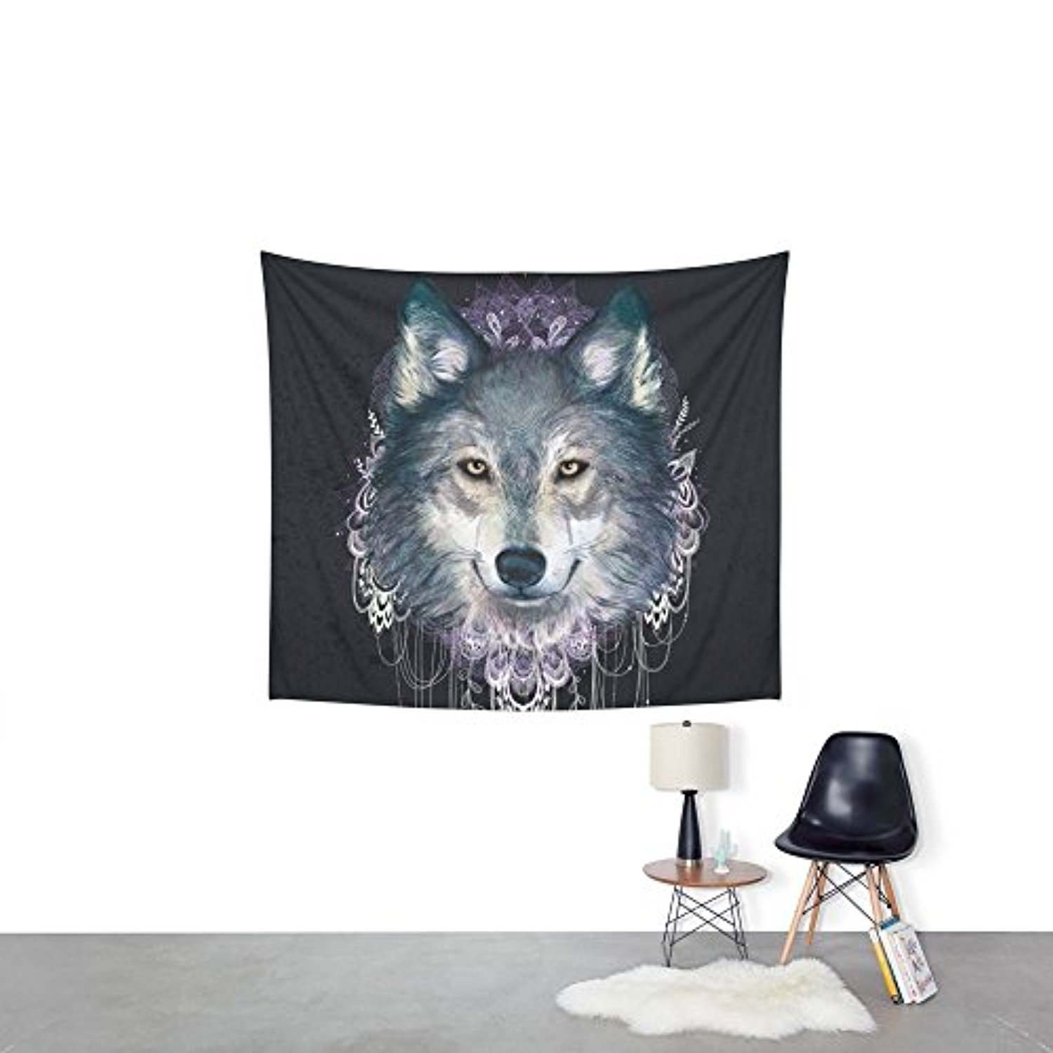 "Society6 Wolf Wall Tapestry Small: 51"" x 60"""