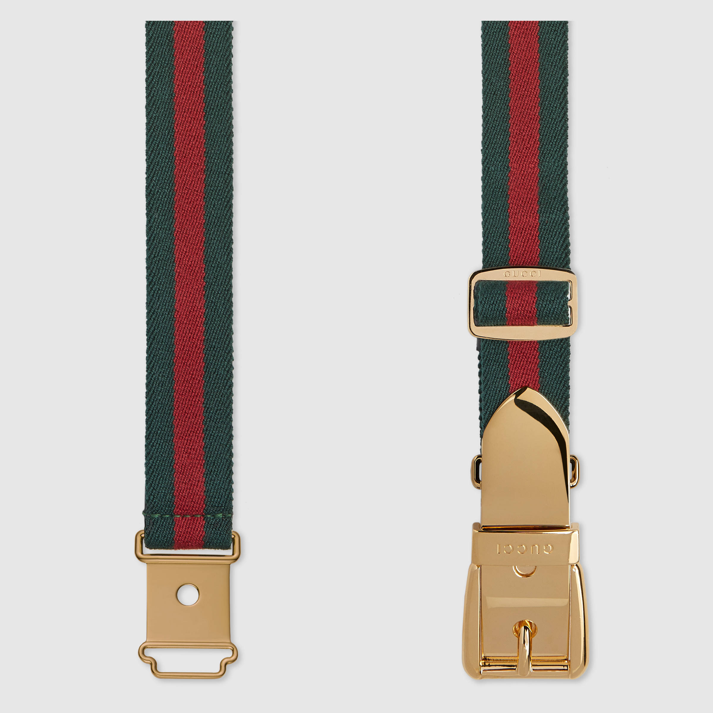【グッチ】Web Belt With Square Buckle ベルト