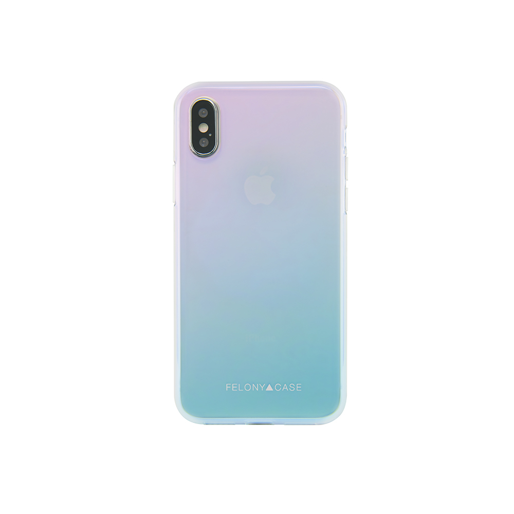 FELONY CASE TRANSPARENT HOLOGRAM CASE iPhoneX対応