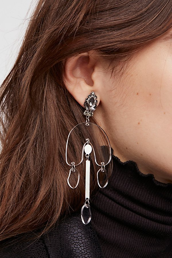 Free People フリーピープル Lucite Crystal ピアス 送料無料