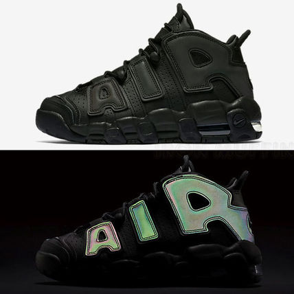 新色♪ NIKE AIR MORE UPTEMPO GS Reflective ナイキ モアテン