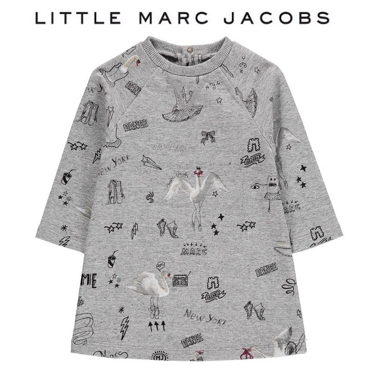 Little Marc Jacobs★プリントワンピース・スワン(6M-3Y)2017AW