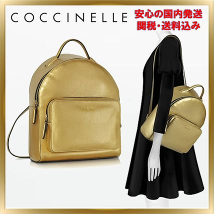 COCCINELLE バックパック・リュック ◇ COCCINELLE ◇ Clementine Golden Saffiano 【関税送料込】