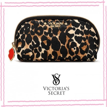 NEW★大人気★Victoria's Secret★ ヒョウ柄 コンパクト ポーチ