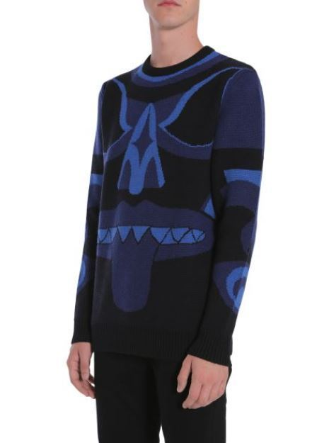 【GIVENCHY】ROUND COLLAR WOOL JACQUARD JUMPER
