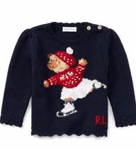 新作♪ 国内発送 Skate Polo Bear Cotton Sweater girls 0~24M
