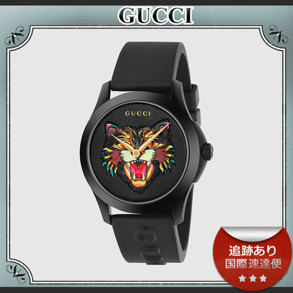 18AW/送料込≪GUCCI≫ Angry Cat G-Timless ラバー 腕時計