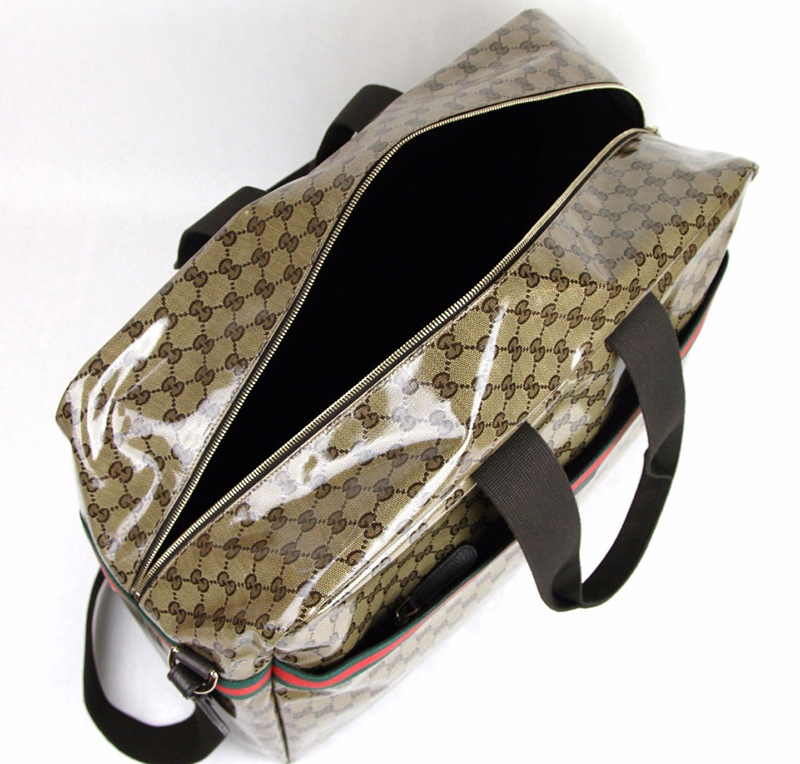 GUCCI★グッチ★素敵!Crystal GG Canvas Duffle Bag