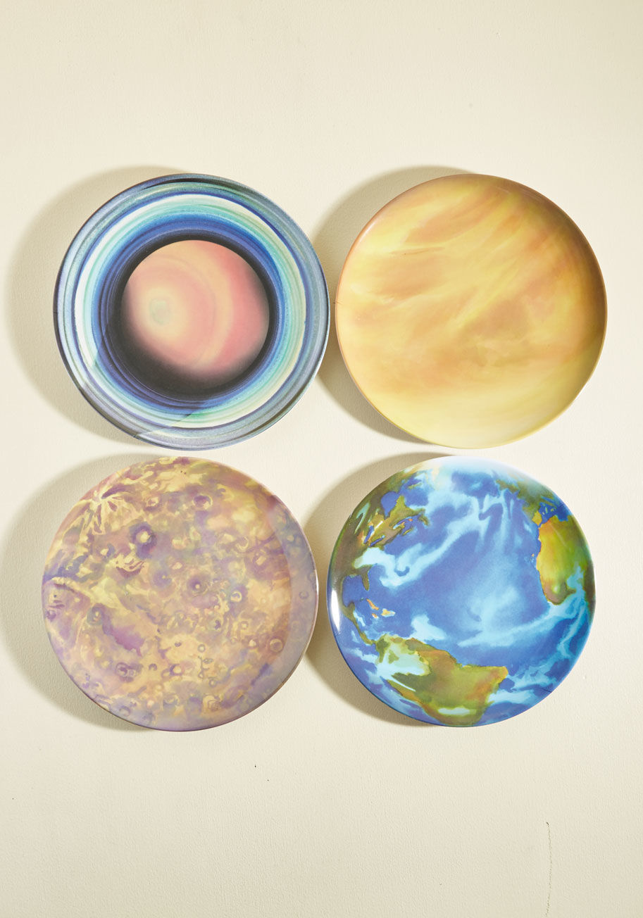 ◎送料込み◎ when the planets a-dine plate set