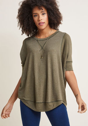 ◎送料込み◎ best of basics knit top in olive