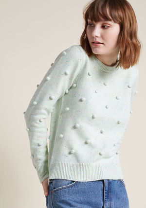 ◎送料込み◎ pom-pom knit sweater in confetti