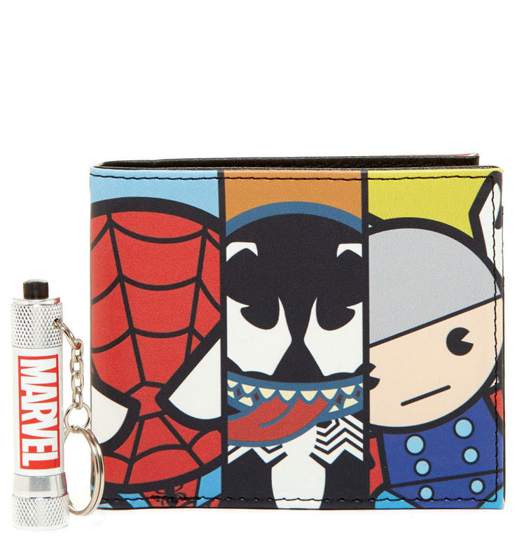 Marvel Kawaii Slimfold Wallet with Flashlight Set MA507783