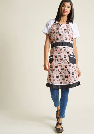 ◎送料込み◎ cat buy me love apron in pink