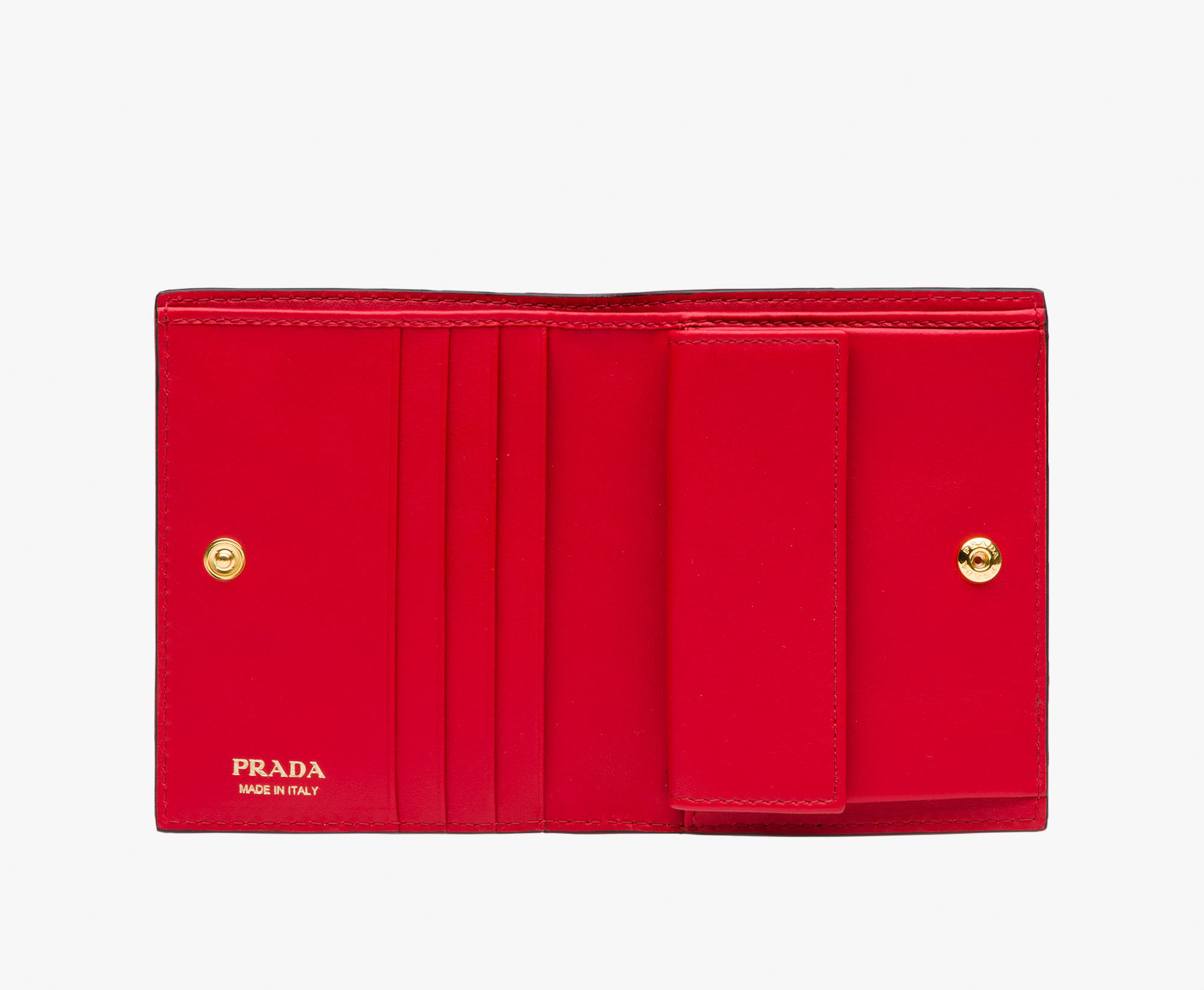 ●PRADA●冬新作♪Small madras leather wallet