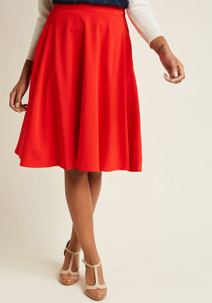 ◎送料込み◎ just this sway midi skirt in tomato