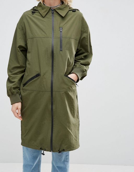 送料込 ASOS Rain Mac in Midi Length 海外限定