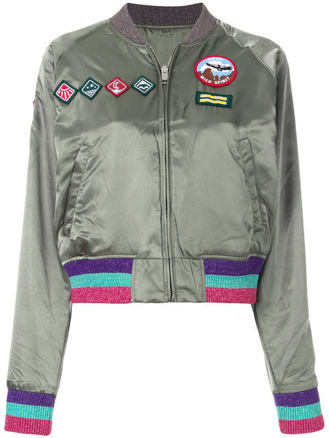 DIESEL patch bomber jacket ジャケット