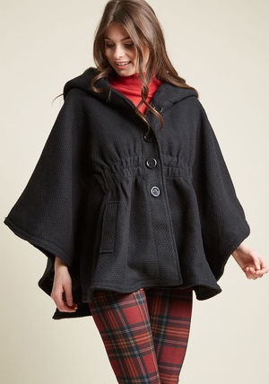 ◎送料込み◎ hood if i could cape in black